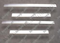 Хром накладки на дверные пороги (нерж.) 2 шт. #58725