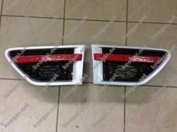 Жабры в крылья Range Rover Sport (2010-2013) Серые, чёрная сетка