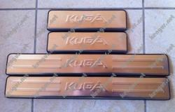 Хром накладки на пороги FORD KUGA