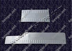 Хром накладки на дверные пороги (нерж.) 3 шт