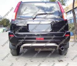 Защита заднего бампера Nissan X-Trail U-образная