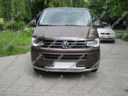 Защита переднего бампера Volkswagen T5 двойной ус #159032