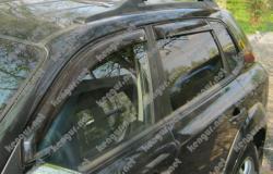 Дефлекторы окон, ветровики Hyundai Tucson наружные