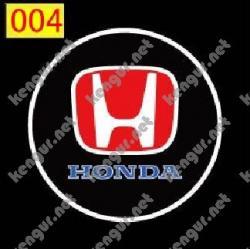 Лазерная подсветка дверей с логотипом Honda (№004)
