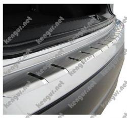 Защитная накладка на задний бампер Renault Duster с загибом вниз