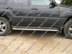 Трубки под пороги Toyota Land Cruiser 100