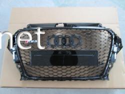 Решетка радиатора Audi A3 стиль RS3 2012-2015 all black