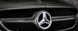 Эмблема в решетку радиатора с подсветкой для Mercedes W219
