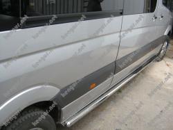 Пороги боковые Mercedes Sprinter (трубы В2) средняя база