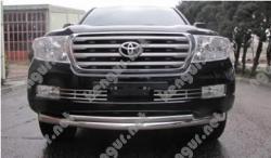 Акция!!! Защита переднего бампера Toyota Land Cruiser 200 двойной ус