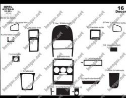 Декоративные накладки салона Opel Astra G