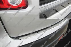 Накладка на задний бампер Mitsubishi ASX с загибом (нерж)