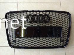 Решетка радиатора Audi Q7 стиль RSQ7 Black (2006-2012)