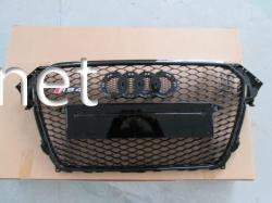 Решетка радиатора Audi A4 стиль RS4 2012-2015 all black