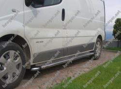 Пороги боковые Opel Vivaro (труба с листом)