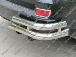 Защита задняя Toyota Prado120 угловая двойная