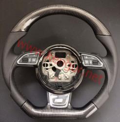 Руль карбоновый в стиле S-line на Audi A4 (2008-...)