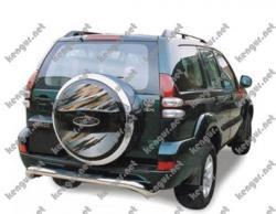 Защитная дуга заднего бампера Toyota Prado120 #508516
