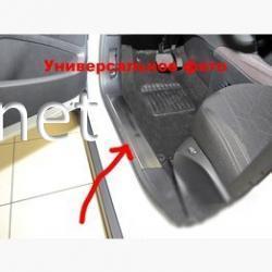 Накладки на внутренние пороги Fiat Doblo 2010-2015