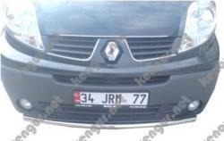 Защитная дуга по бамперу Renault Trafiс одинарная