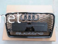 Решетка радиатора Audi A7 стиль RS7 all black Quattro 2011-2015