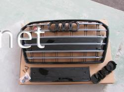 Решетка радиатора A6 стиль RS6 черная  2014-