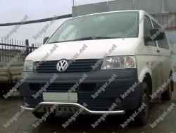 Защитная дуга по бамперу с пластиной Volkswagen Transporter T6
