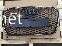 Решетка радиатора Audi A6 стиль RS6 Chrome 2014-