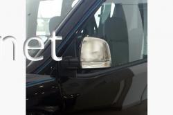 Накладки на зеркала (пластик) Fiat Doblo 2010-2015