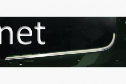 Накладки на нижние молдинги стекол Fiat Doblo 2010-2015