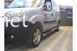 Пороги боковые (трубы В2) Fiat Doblo 2005-2010