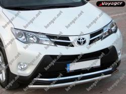 Защитная дуга по бамперу Toyota Rav 4 (2013-...) одинарная