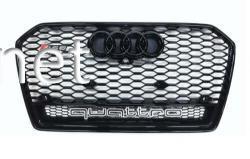 Решетка радиатора Audi A6 стиль RS6 black 2014- QUATTRO