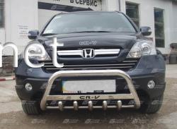 Защита переднего бампера - кенгурятник (с надписью) Honda CR-V 2007-…