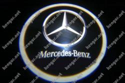 Лазерная подсветка дверей с логотипом на Mercedes Sprinter