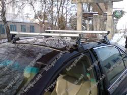 Рейлинги на крышу Toyota Camry поперечные (аэродинамические) Dromader D-1