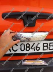 Хром накладка над номером на крышку багажника Opel Vivaro