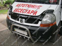 Дефлектор капота, мухобойка без надписи Renault Master 2003-2010 (VIP)
