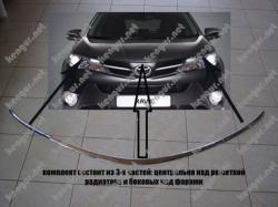 Хром окантовка капота на Toyota Rav-4 (2013-...)