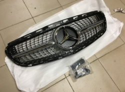 Решетка радиатора Mercedes E-class W212 2013+ Diamond grill