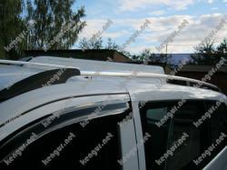Рейлинги серебристые Mercedes Vito (пластиковые концевики) #885505