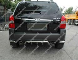 Защита заднего бампера Hyundai Tucson