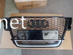 Решетка радиатора Audi A5 стиль RS5 черная окантовка черная сетка QUATTRO 2008-2011