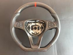 Руль карбоновый Mercedes Benz  CLA Class AMG Черная нить C117