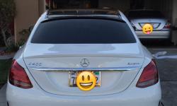 Спойлер заднего стекла Mercedes W205 (блэнда)