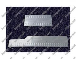 Накладки на дверные пороги Volkswagen Crafter (нерж.) 3 шт.