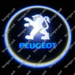 Лазерная подсветка дверей с логотипом на Peugeot Partner