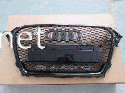 Решетка радиатора Audi A4 стиль RS4 хром окантовка черная решетка Quattro