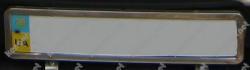Рамка под номер Renault Duster (нержавейка)