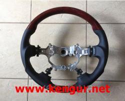 Руль Toyota Camry V50 2011-2015 ( черная кожа + красное дерево) Sport-type